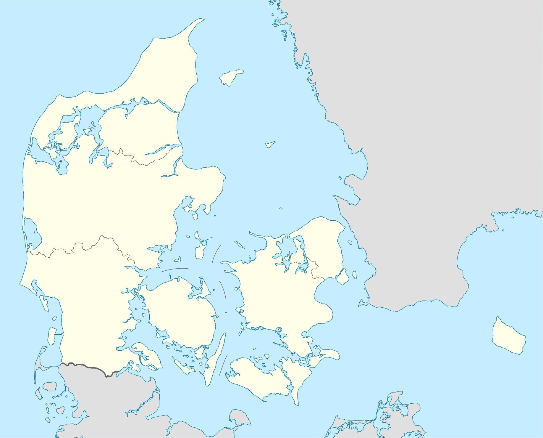 Denmark Map Vector Map Of Denmark Vector Northern Europe Europe