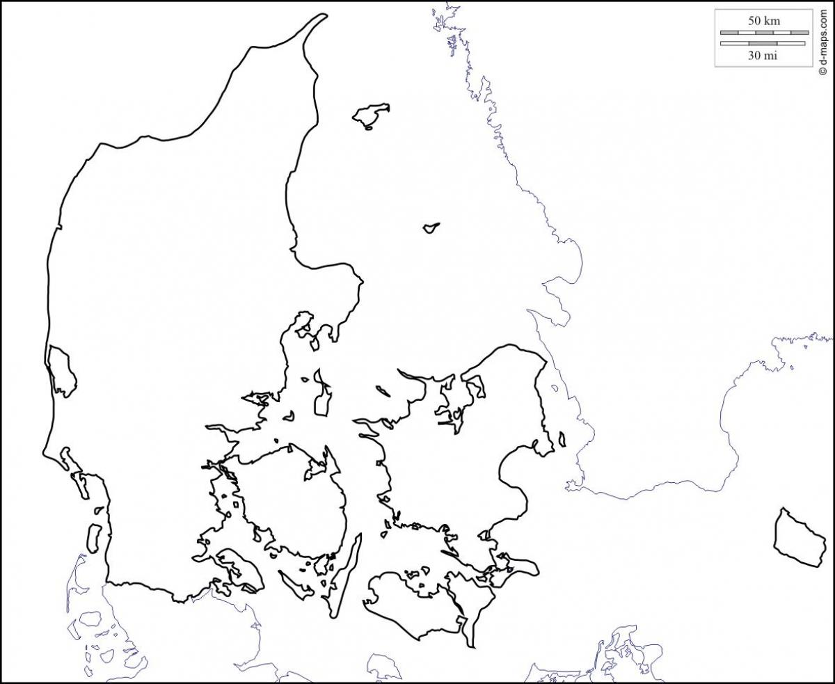 Map of denmark outline