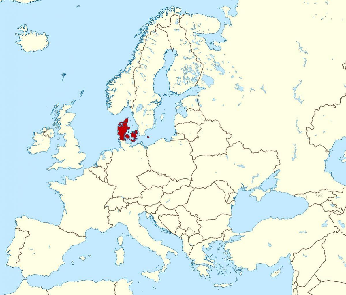 Denmark On Map Of World.Denmark On World Map World Map Showing Denmark Northern Europe