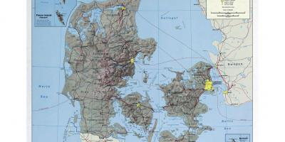 International airports in denmark map