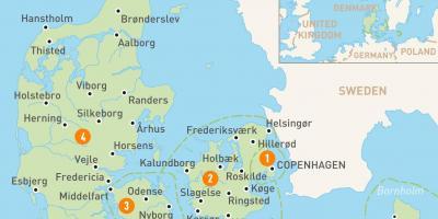 Denmark map - Maps Denmark (Northern Europe - Europe)