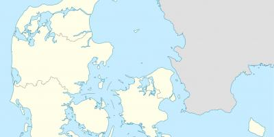 Denmark Map Maps Denmark Northern Europe Europe