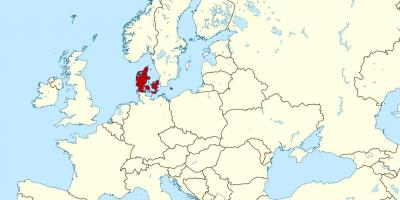 Denmark on world map - World map showing denmark (Northern Europe ...